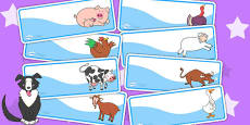 Editable Drawer Peg Name Labels to Support Teaching on Farmyard Hullabaloo