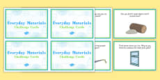 Everyday Materials Challenge Cards