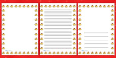 Christmas Bells Portrait Page Borders