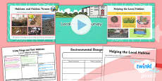 PlanIt - Science Year 4 - Living Things and Their Habitats Lesson 5: Local Habitat Survey Lesson Pack