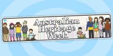 Australia - Australian Heritage Week Display Banner
