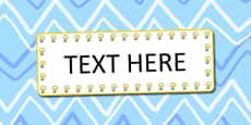 Light Bulb Themed Editable Word cards