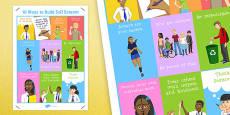 10 Ways to Build Self Esteem Poster