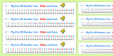 0-30 Number Line (odds and evens)