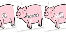 100 High Frequency Words on Chinese New Year Pig