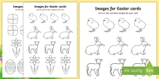 Easter Card Templates (Colouring)
