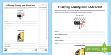 * NEW * Kilkenny County and GAA Crest Activity Sheet