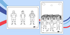 Rugby Colouring Sheets