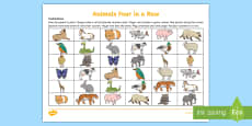 * NEW * Different Animals Four in a Row Game