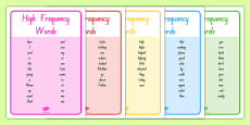 New Zealand High Frequency Words Posters