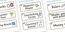 Nightingale Themed Editable Maths Area Resource Labels