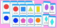 2d Shape Cards German