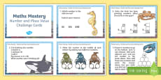 Year 3 Number and Place Value Maths Mastery Challenge Cards
