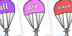 Tricky Words on Parachutes