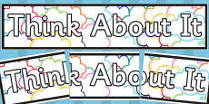 Think About It Display Banner