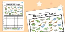 Dinosaur Bar Graph Activity Activity Sheet