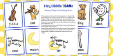 Hey Diddle Diddle Nursery Rhyme Vocabulary Game