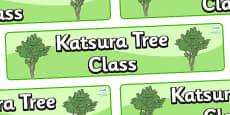 Katsura Tree Themed Classroom Display Banner