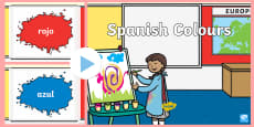 Spanish Colours PowerPoint
