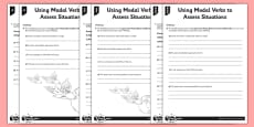 Using Modal Verbs to Assess Situations Differentiated Activity Sheet Pack