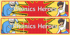 * NEW * Phonics Heroes Display Banner
