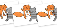 A-Z Alphabet on Cats to Support Teaching on What the Ladybird Heard