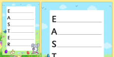 Easter Acrostic Poem Template