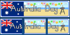 Australia Day Display Banner - Australia