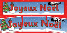Christmas Display Banner (French)