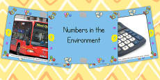Numbers in the Environment Photo PowerPoint
