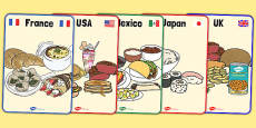 Foods Around The World Display Posters
