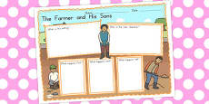 Australia - The Farmer and His Sons Book Review Writing Frame