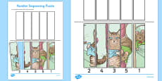 Beatrix Potter - The Story of Miss Moppet Number Sequencing Puzzle