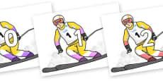 Numbers 0-31 on Alpine Skating