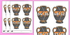 Number Bonds to 100 on Ancient Vases