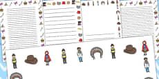 Mr Benn's Fancy Dress Shop Page Borders