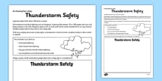 Thunderstorm Safety Activity Sheet
