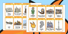 The Great Fire of London Flashcards Polish Translation