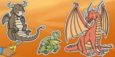 Dragon Stick Puppets