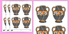 Number Bonds to 30 on Ancient Vases
