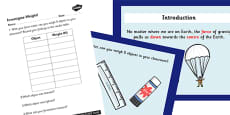 Gravity and Weight Differentiated Lesson Teaching Pack