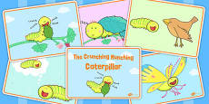 Story Sequencing to Support Teaching on The Crunching Munching Caterpillar