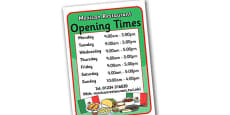Mexican Restaurant Role Play Opening Times