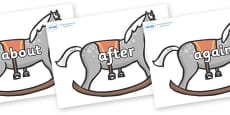 KS1 Keywords on Rocking Horses
