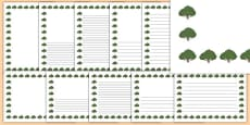 Yew Tree Themed Page Borders