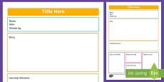 ECE Learning Story Portfolio template