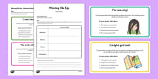 Year 6 Transition Scenario Cards and Action Plan Activity Pack