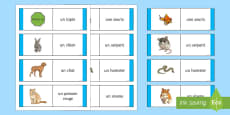 * NEW * Animal Card Game French
