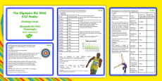 The Olympics Rio 2016 UKS2 Maths Challenge Cards Polish Translation
