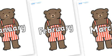 Months of the Year on Little Bear